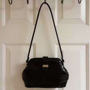 Rosetta patent leather small doctor's bag